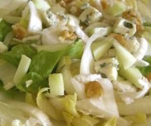 recettes salade endives roquefort pommes noix